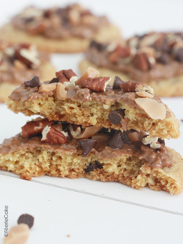 Recette des cookies noix de pécan feuillantine au caramel