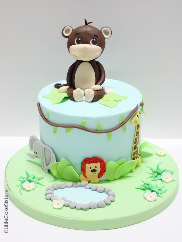 Gâteau animaux de la savane / jungle
