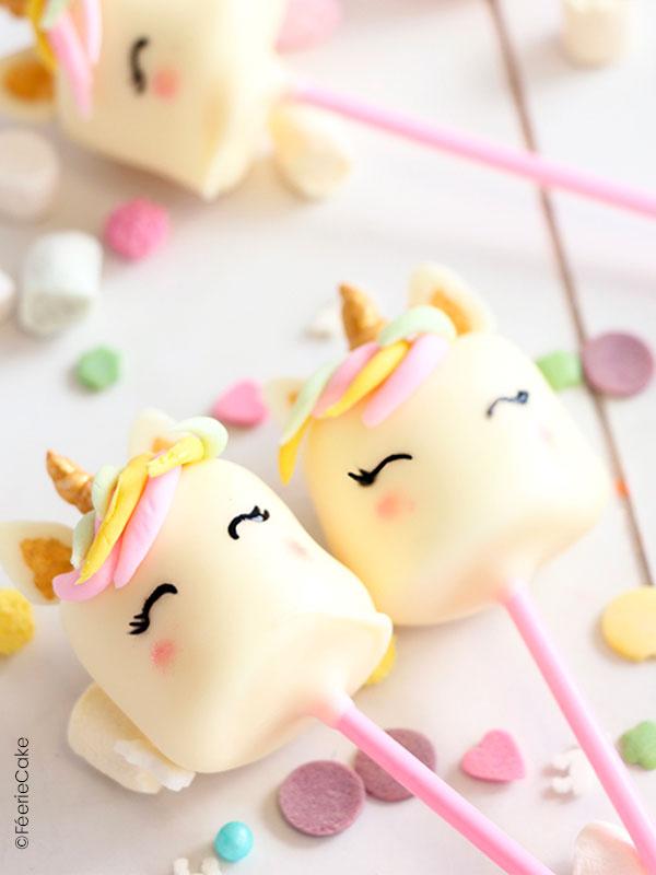 Cake pops licorne