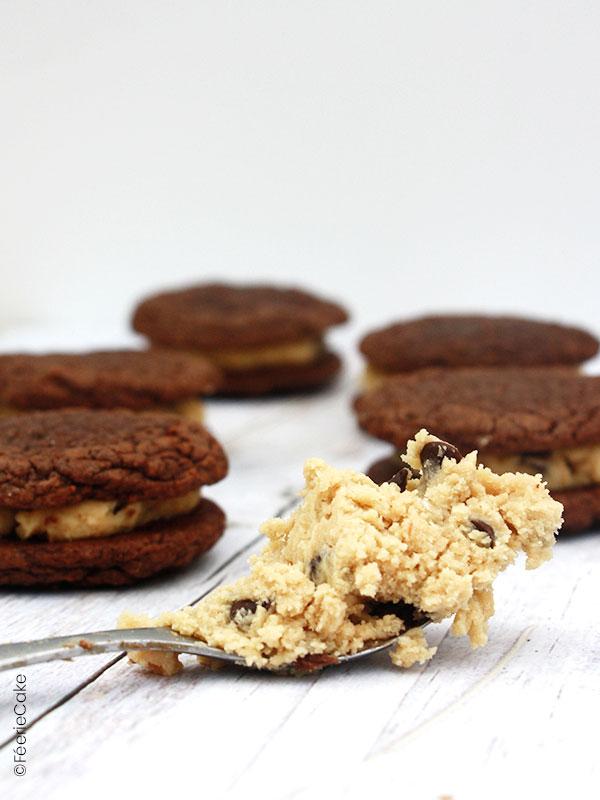 Pâte crue de cookie