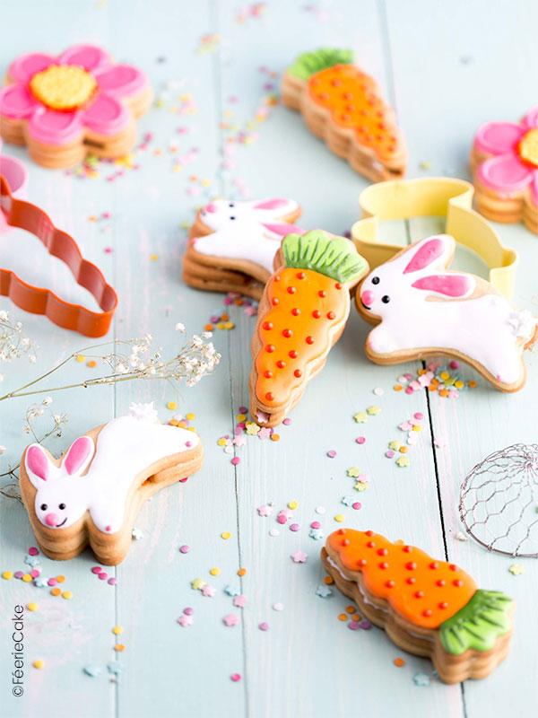Des petits biscuits pinata trop mignons en forme de carottes et de lapins