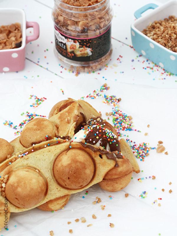 Recette des buffle waffle : des gaufres originales parsemées de toppings