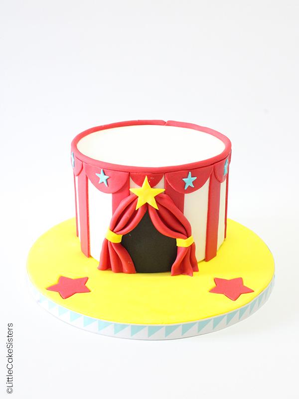 Cirque en pâte à sucre