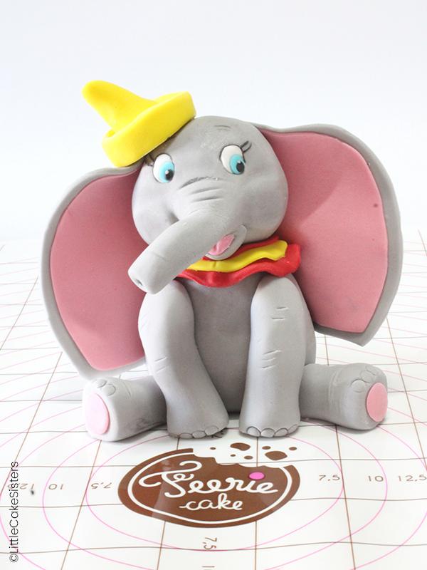 Modelage Dumbo en pâte à sucre