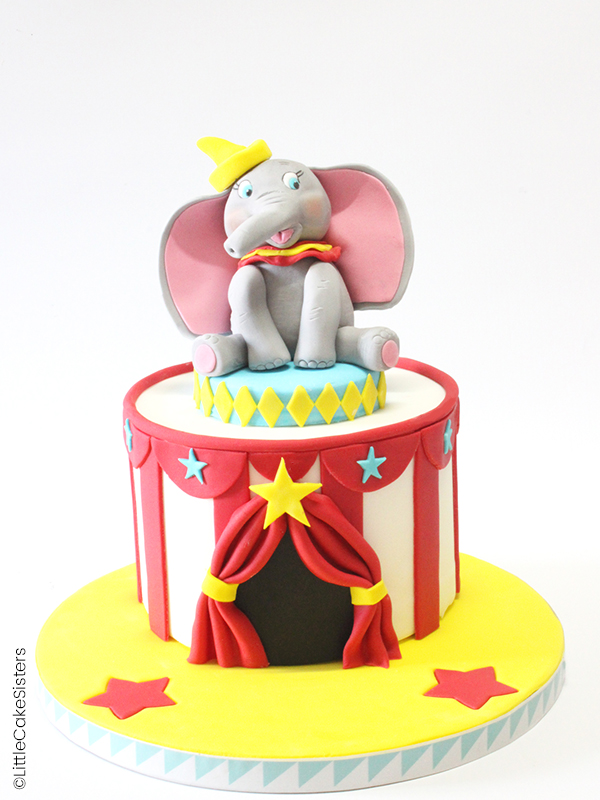 Gâteau en pâte à sucre Dumbo