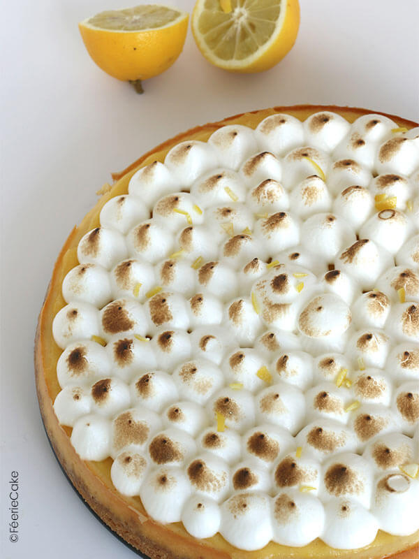 Le cheesecake façon tarte au citron meringuée