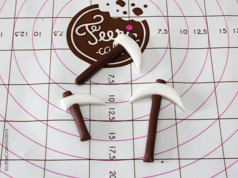 Modelage des outils pour le gâteau en pâte à sucre Fortnite