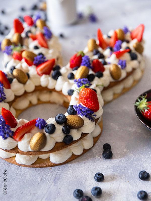 Gâteau lapin number cake terminé