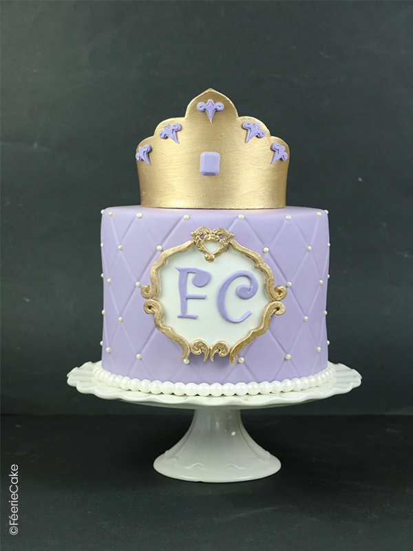 Gâteau en pâte à sucre Princesse