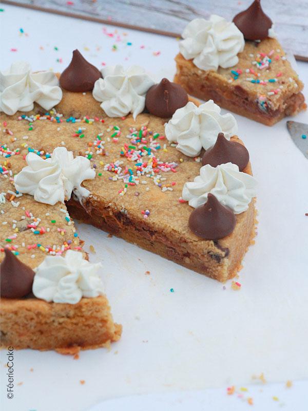 Gâteau façon cookie moelleux