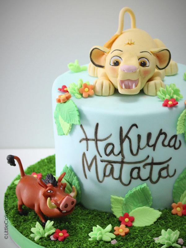 Gâteau en pâte à sucre pour le film du moment : Le Roi Lion