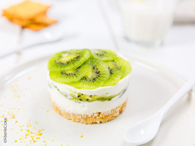 cheesecake au kiwi et chantilly