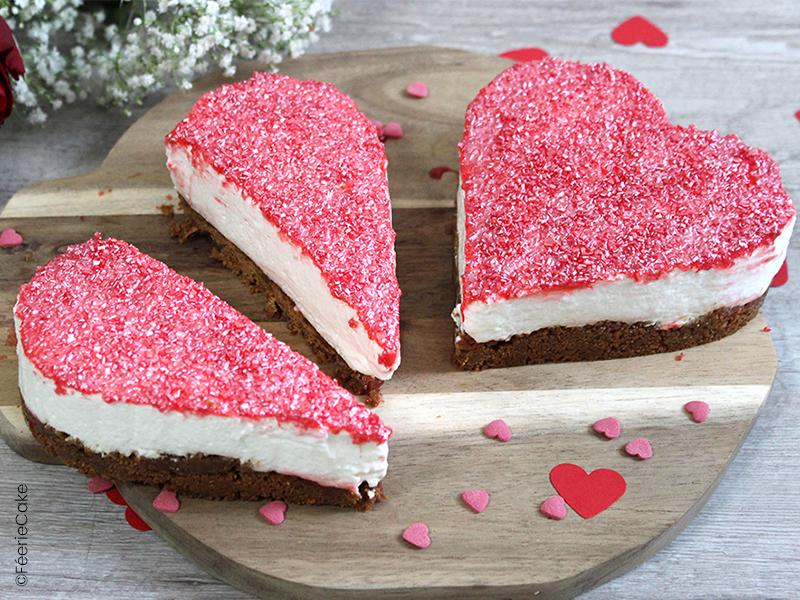 cheesecake citron speculoos en coeur