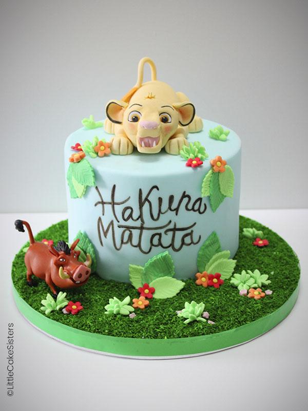 Gâteau en pâte à sucre : le roi lion