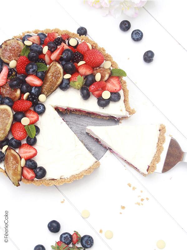 Tarte au chocolat blanc et aux fruits rouges