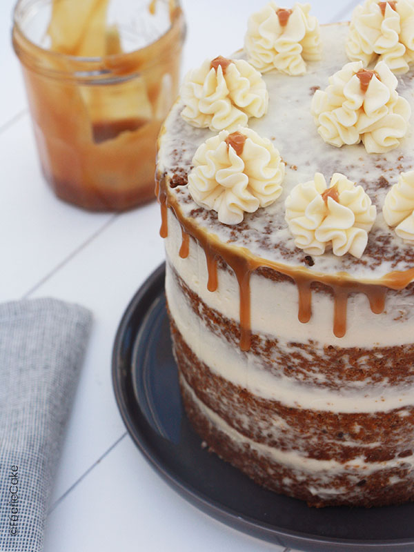 photo recette carrot cake glacage caramel cheese 1