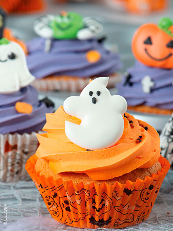 """Les caissettes à cupcake """"citrouilles et fantômes"""""""