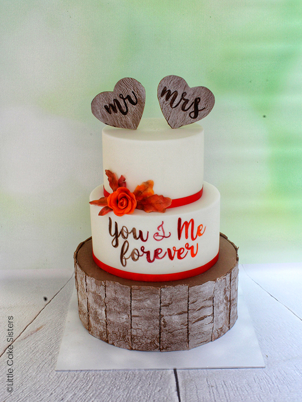 photo wedding cake automne fini
