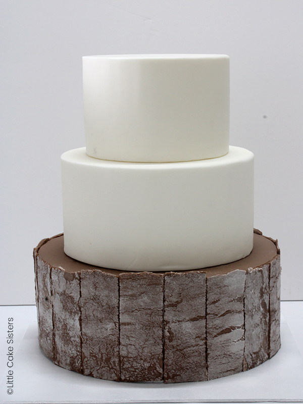 photo wedding cake dowel
