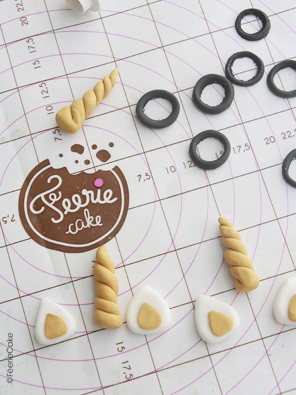 Modelage de corne, oreille et lunette pour la recette des cakes pops Harry Potter
