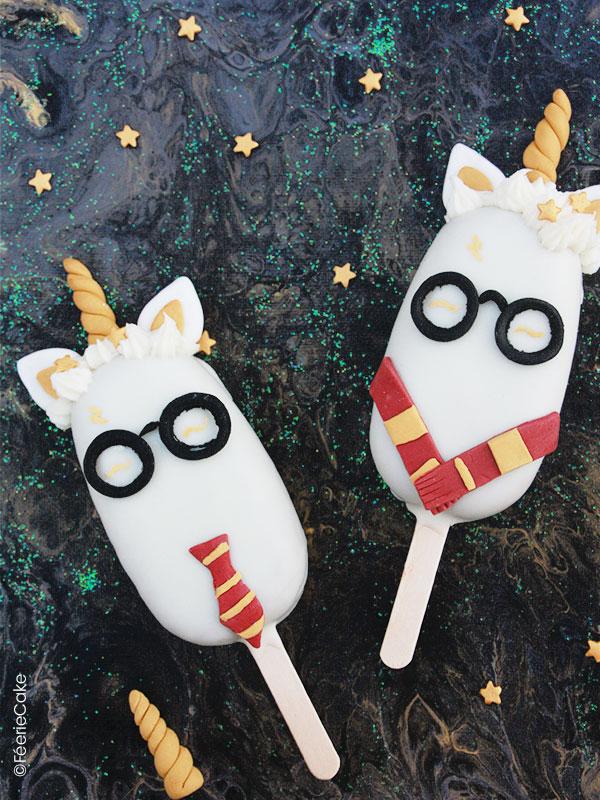 Recette des cake pops Harry Potter réalisés en pâte à sucre