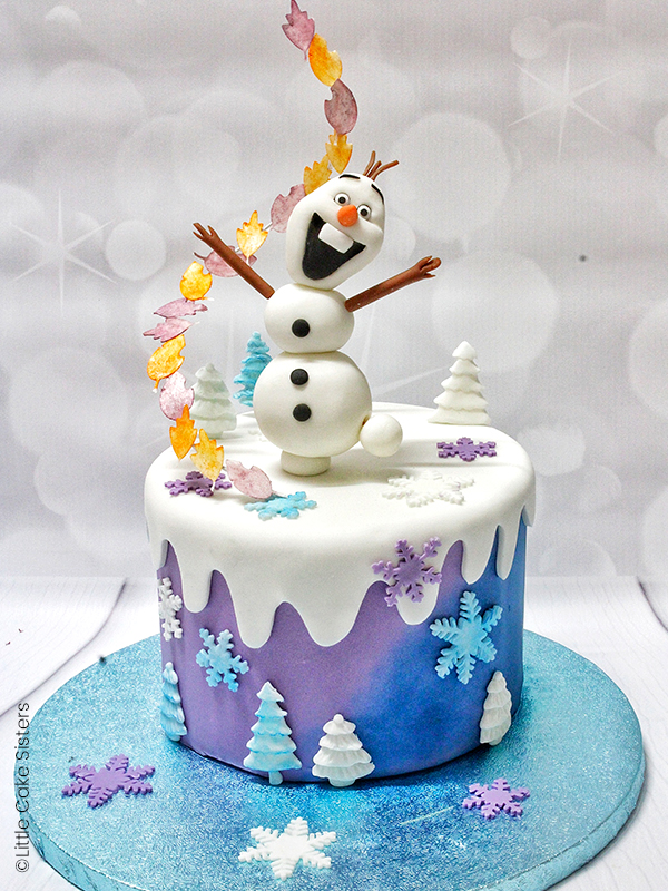 photo gateau reine des neiges top