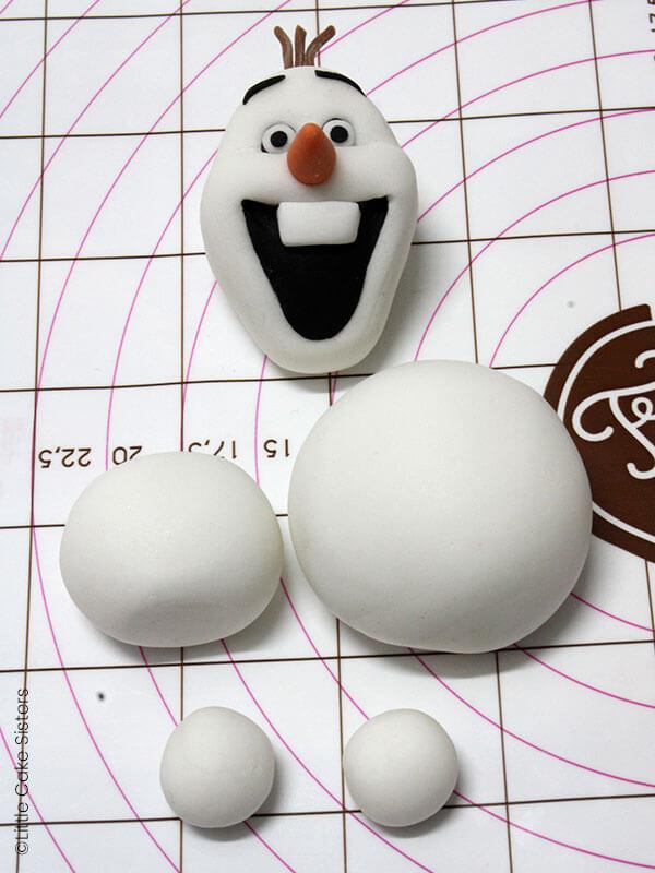 Laissez sécher toutes les parties d'Olaf séparément