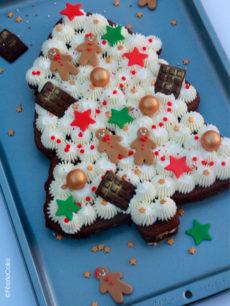photo sable sapin noel chantilly chocolat