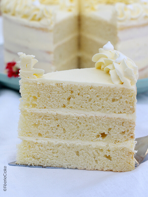 photo white cake vanille blanc part