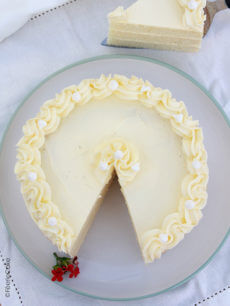 photo white cake vanille blanc fini