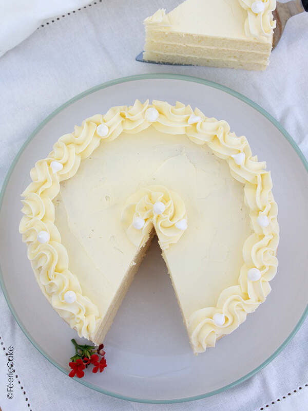 photo white cake vanille blanc fini