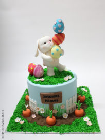photo gateau lapin paques