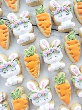 Les biscuits décorés de Pâques
