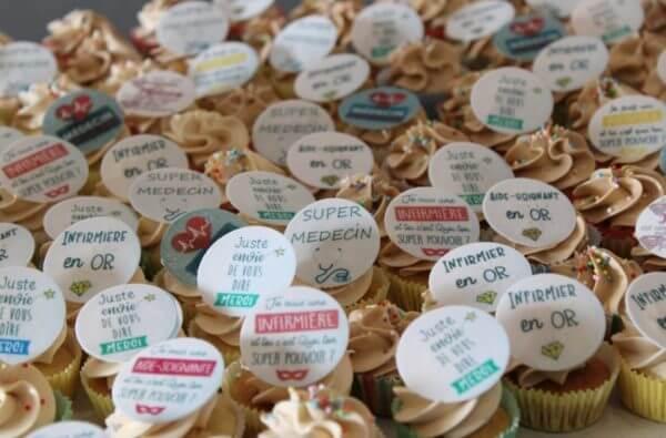 mini cupcakes pour le personnel de l'hôpital