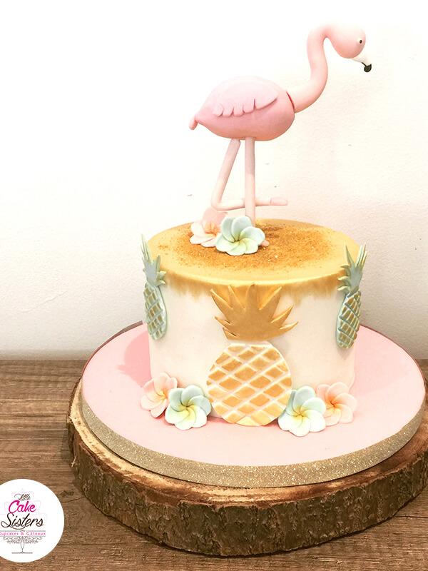 gâteau en flamant rose