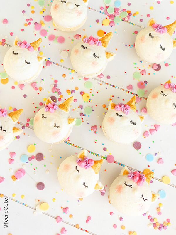 macarons licorne