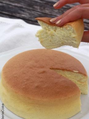 Gâteau coton ou sponge cake japonais