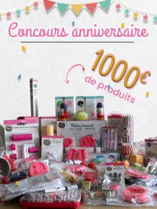 Concours anniversaire : 1000€ de produits à gagner !