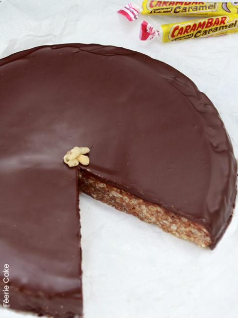 Gâteau sans cuisson riz soufflé carambar et guimauve