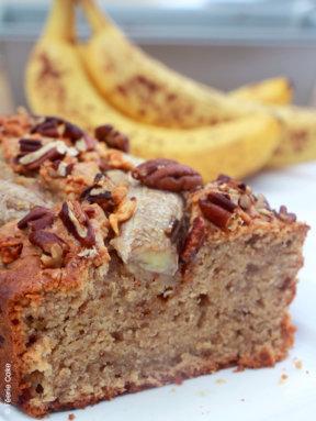 Banana bread noisettes caramélisées et noix de pécan