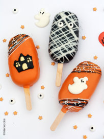 photo cakesicle pops halloween