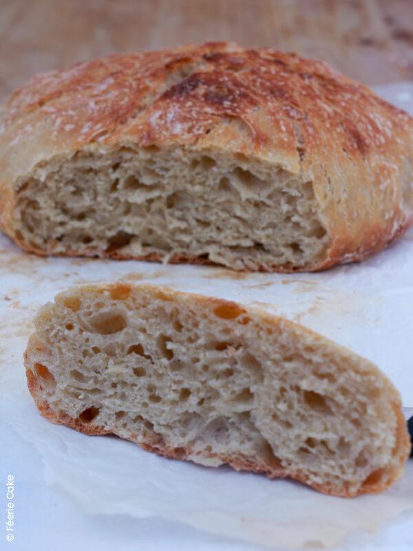 photo pain sans petrissage coupe