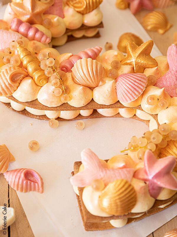 symbol sirene cake deco sucre