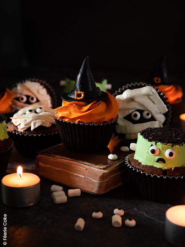 photo cupcakes halloween ambiance