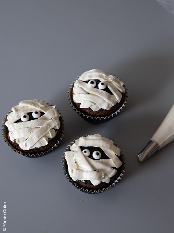 photo cupcakes halloween momie