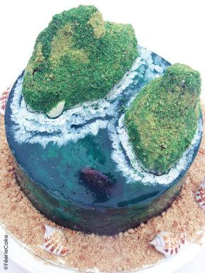 Gâteau «Island cake» tutoriel