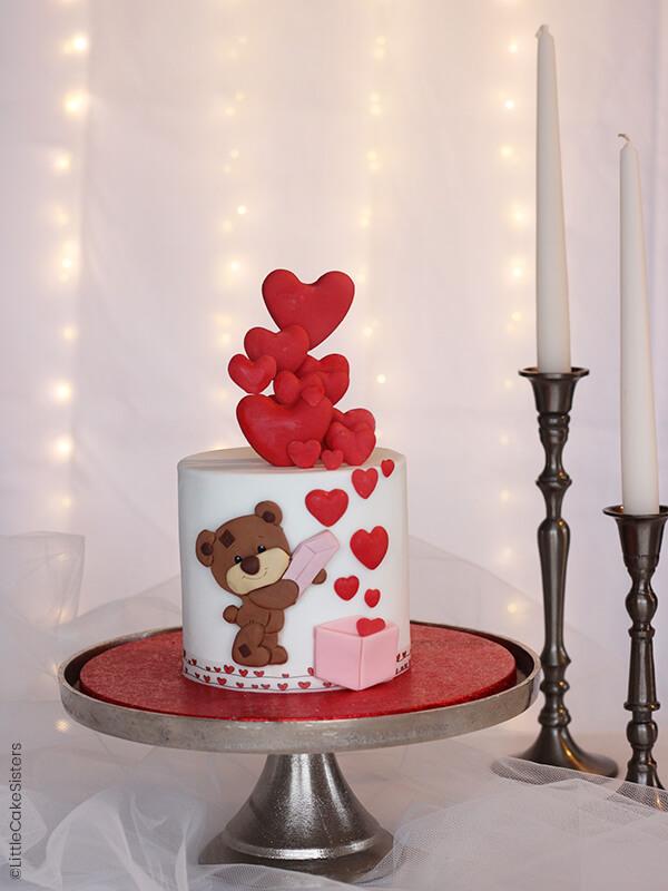 Gâteau ourson de la Saint Valentin