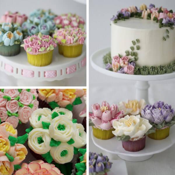 Décoration de gâteaux et cupcakes avec les douilles russes