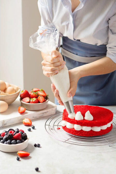 La douille ronde pour décorer les gâteaux