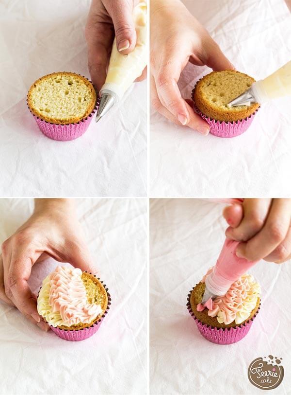Les douilles à volants permettent de donner un aspect froufrous sur les gâteaux et cupcakes.